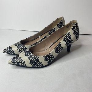 Black and White Dexflex Comfort Heels